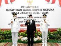Gubernur Ansar Lantik Bupati dan Wakil Bupati Natuna