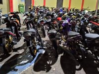 Terlibat Balap Liar di Dompak, Belasan Kendaraan Diamankan Polisi
