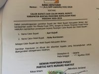 DPP Hanura Resmi Dukung Apri-Robby di Pilkada Bintan 2020