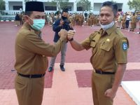 Gubernur Kepri Ansar Ahmad Pimpin Apel Pagi Perdana