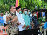 Gubernur Hadiri Penyuntikan Vaksin di Tanjunguncang