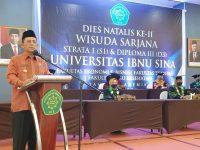 Gubernur Hadiri Dies Natalis Universitas Ibnu Sina
