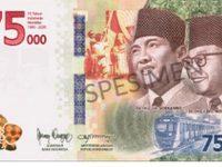 BI Terbitkan Uang Rp75.000, Edisi HUT RI Dicetak 75 Juta Lembar
