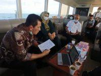 Dari Atas Laut, Gubernur Ansar Vicon Bersama Menko Luhut