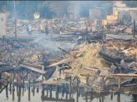 Puluhan Ruko dan Sebuah Penginapan di Pasar Daik Lingga Ludes Terbakar